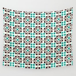Gem Tiles Turquoise Wall Tapestry