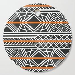 Tribal ethnic geometric pattern 022 Cutting Board