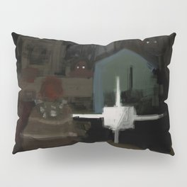 Creepy graveyard Pillow Sham