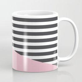 Pink & Gray Stripes Coffee Mug