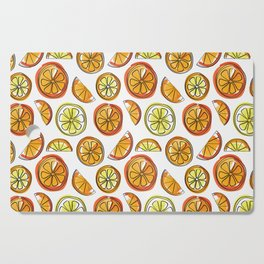 Illustrated Oranges and Limes Cutting Board