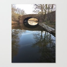 Fens Reflection Canvas Print