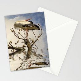 Weißstorch (Ciconia ciconia)  Stationery Cards