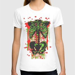 Zombie color Skeleton Headless Legless  T-shirt