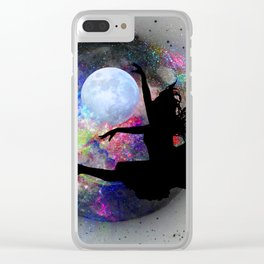 Dancing in the moon Clear iPhone Case