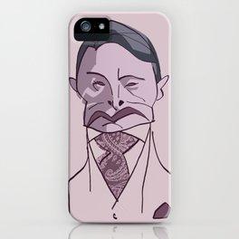 "MADS MIKKELSEN as ""HANNIBAL"" iPhone Case"