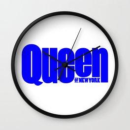 Queen of New York (Blue) Wall Clock