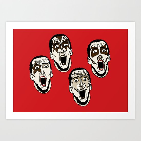 Kiss Cage Art Print