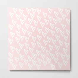 White hearts Metal Print