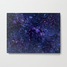The Wolves Hidden in the Sapphire Blue Galaxy Metal Print