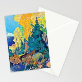 Franklin Carmichael - Autumn Hillside - Digital Remastered Edition Stationery Cards
