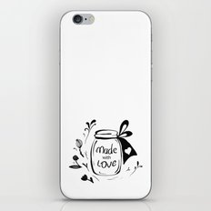 Made with love iPhone & iPod Skin