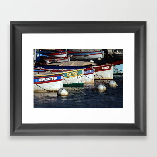 Boats pointu (6972) Framed Art Print