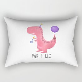 Par-T-Rex - Pink Dinosaur Birthday Rectangular Pillow