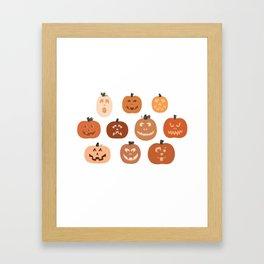 jack o' lanterns. (white variant) Framed Art Print