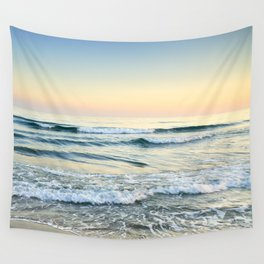 Serenity sea. Vintage. Square format Wall Tapestry