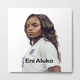 the best player football woman Metal Print