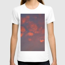 Red clouds shining at sunset T-shirt