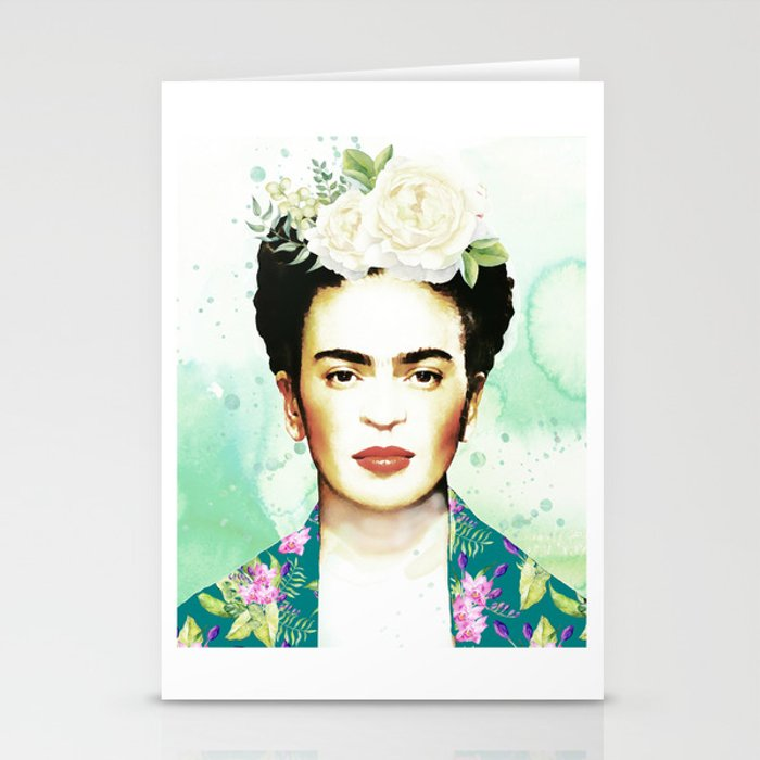 Watercolor Frida Kahlo Stationery Cards by southpacificprints | Society6