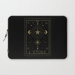 L'Etoile or The Star Tarot Gold Laptop Sleeve
