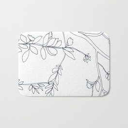 Branches and Leaves, Drawing Bath Mat