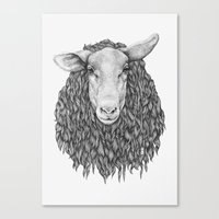 sheep Canvas Prints featuring Sheep by Thea Nordal