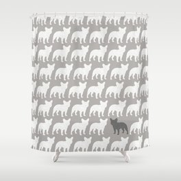 French Bulldog Silhouette(s) Shower Curtain
