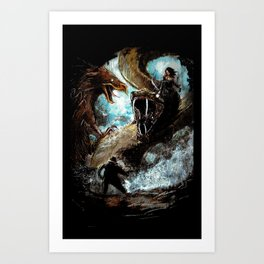 Feathered Death Art Print