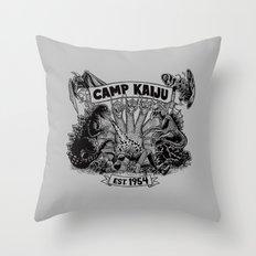 Camp Kaiju Throw Pillow