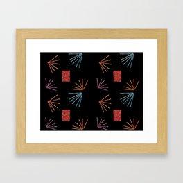 Pixy Stix Batik Framed Art Print