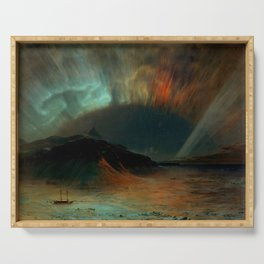 Aurora Borealis by Frederic Edwin Church Serving Tray
