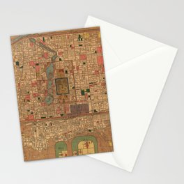 Vintage Map of Beijing China (1914) Stationery Cards