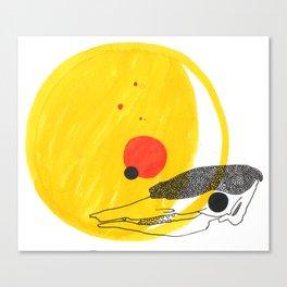 Desert Sun Skeleton Canvas Print