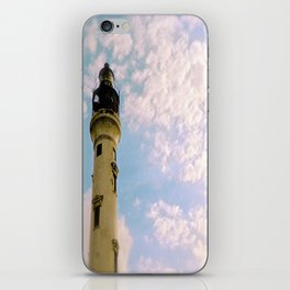 Cloudy at the Lighthouse iPhone Skin