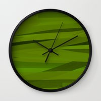 camo Wall Clocks featuring Camo by Max Jones