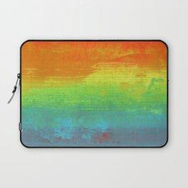 Abstract Rainbow Painting Laptop Sleeve