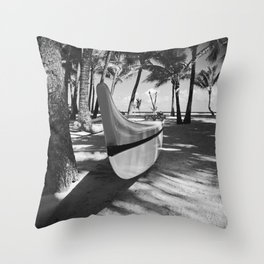 Kuau Hawaii Outrigger Canoe Paia Maui Hawaii Throw Pillow