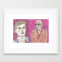 """rupaul Framed Art Prints featuring """"Do I Have Something On My Face?"""" by Vincenzo Dama"""
