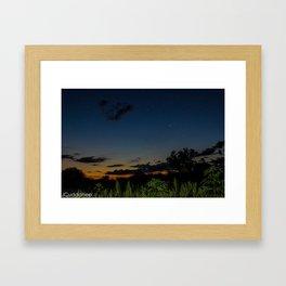 Iroquois Wetlands at Night  Framed Art Print
