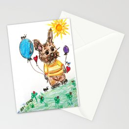 ::  Honey Rabbit on the Knoll :: Stationery Cards