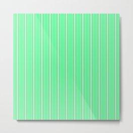 Mint Green Abstract XI Metal Print