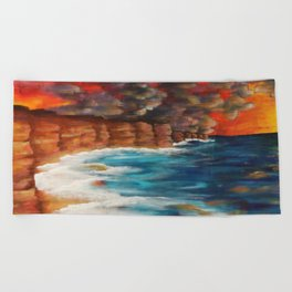 Moroccan Sea Spray Beach Towel