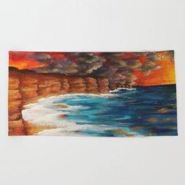 Moroccan Sea Spray Beach Towel