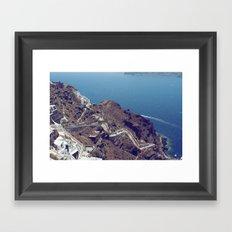 Santorini Stairs Framed Art Print