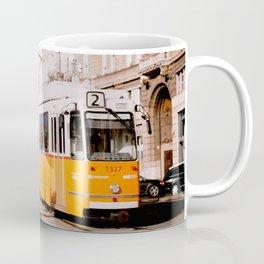 Tram along Danube River Coffee Mug