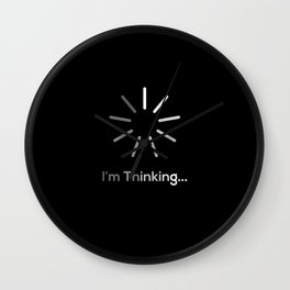 Im Thinking And Loading Wall Clock