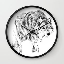 Mister Wolf Wall Clock