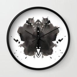 Rorschach test 2 Wall Clock