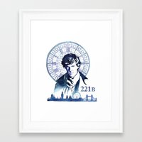 sherlock Framed Art Prints featuring Sherlock by Jackie Sullivan