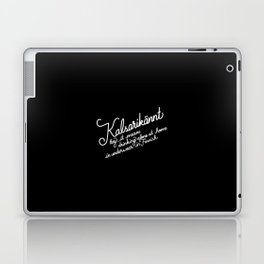 Kalsarikännt   [black & white] Laptop & iPad Skin